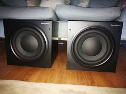 bowers and wilkins subwoofer. they are priced at £350 each, i would prefer the buyer to collect due their weight, but could be sent via courier if need for £30 insured bowers and wilkins subwoofer