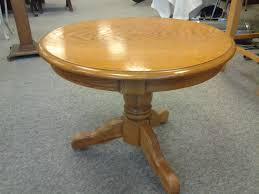 round oak pedestal table night stand end table