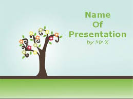 tree in powerpoint colorful pastel tree powerpoint template