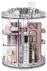 sorbus rotating makeup organizer 360 rotating adjule carousel storage for cosmetics toiletries