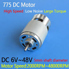 <b>1pc</b> High Speed 775 Motor Low Noise DC 6V <b>12V 24V 36V</b> 48V ...