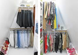 Open Closets Small Spaces Admirable Corner Closet Organized System Exposed White Wooden
