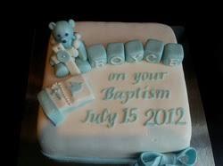 Baby Boy Chrsitening Cake