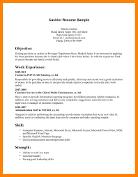 Resume Of A Cashier Cashier Resumes Cashier Resume