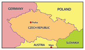 Image result for czech republic map