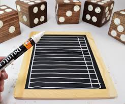 turn untreated 4x4 lumber into a fun lawn dice game use a 5 gallon paint