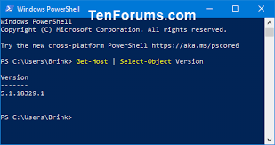 check powers version in windows