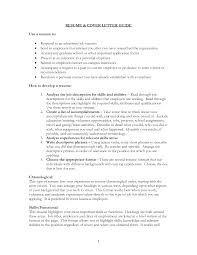 Writing Cover Letters For Resumes 22 Help With Letter Resume
