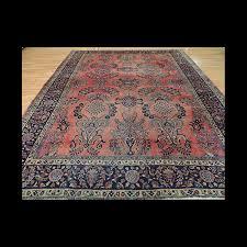 spectacular antique persian sarough wool oriental area rug 9x11