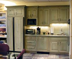 green stained kitchen cabinets photo 1