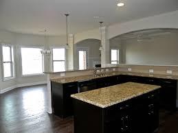 St Cecilia Light Granite Kitchens Tahoe Maple Espresso Cabinets Santa Cecilia Granite Standard
