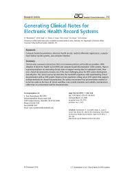 Progress Notes Are Entered In The Chart In Pdf Generating Clinical Notes For Electronic Health Record