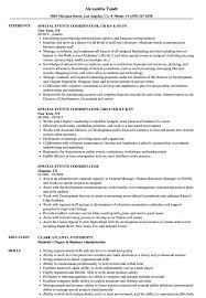 Special Events Coordinator Resume Samples Velvet Jobs