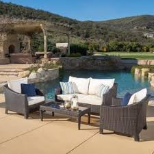 White Wicker Patio Furniture Outdoor Seating Dining For Less