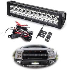 Ford Raptor Light Bar Behind Grill Ijdmtoy Behind Grille Led Light Bar Kit For 2017 Up Ford Raptor Includes 1 High Power Double Row Led Lightbar Inside Grill Mesh Mounting Brackets
