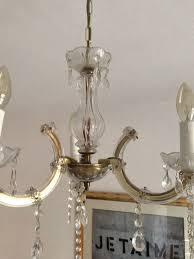 Kronleuchter Lüster Glas Lampe Vintage In 10318 Berlin Für