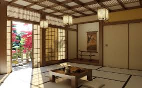 Japanese Living Room Design Charming Japanese Interior Design With Rattan And Wood Material