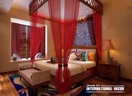 Romantic Red Four Poster Canopy Bed Curtain Designs Intended For ...