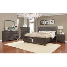 cherry wood bedroom set. Cropsey King Sleigh 4 Piece Bedroom Set Cherry Wood I