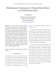 Design And Construction Of Solar Fish Dryer Pdf Performance Evaluation Of A Simple Solar Dryer For Food