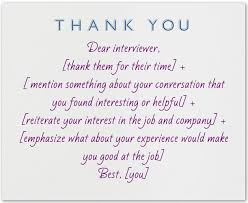 thank you card examples 48 best job interview thank you note examples and wording images on