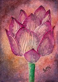 Saltwater Yoga Meditation Lotus Flower Painting by Wesley Hicks