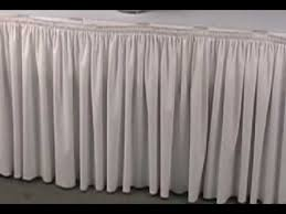 decorating for wedding receptions table skirting