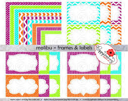 Small Picture Malibu Frames Labels Clip Art Pack Card Making Digital Frames