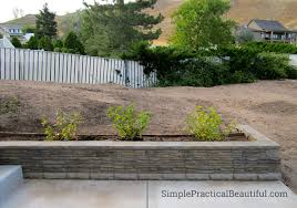 a small retaining wall simple