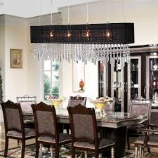 rectangular crystal chandelier dining room uk lighting shade toronto