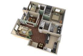 Modern 2 Bedroom Apartment Floor Plans Inspiration Ideas 2 Bedroom Apartment Floor Plans 3d With 5 Image