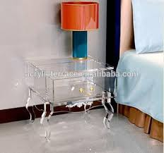 acrylic bedside table.  Acrylic 2011508102 Clear Acrylic Nightstand With DrawerLucite Bedside Table With Acrylic Bedside Table H