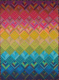 360 best Quilts - Stripes and Strips images on Pinterest | Quilt ... & Rainbow Stripes quilt kit at The Sampler shop Adamdwight.com
