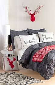 Decorating the Bedroom for Christmas.Nordstrom at Home's 'Chloe' Duvet  Cover @ Nordstrom. I love the pillows !