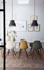 eames chairs dining room