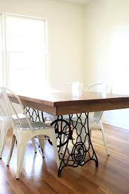 dining room table made from old singer sewing machine9