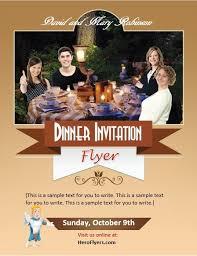 invitation flyer dinner invitation flyer template hero flyers