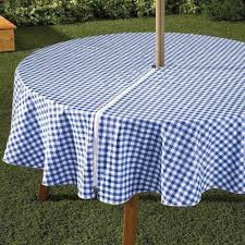 round patio tablecloth with umbrella hole intended to