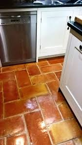 terracotta kitchen floor tiles in after cleaning and sealing uk
