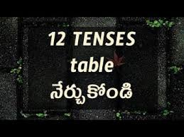 Tense Chart In English Grammar With Example English Grammar Tenses Chart In Telugu With Examples Day 3