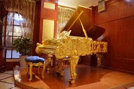 Luxury Home Furniture Gold Grand Piano Dragon Golden Grand Piano