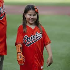 9-Year-Old Hailey Dawson Throws Out First Pitch At Camden Yards ...