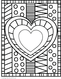 heart colouring pages printable hearts coloring pages hearts colouring pages heart color pages as well as