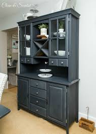 painted dining room furniture ideas. Dining Room Design Ideas. Buffet And Hutch Painted In ACSP Graphite. Furniture Ideas W