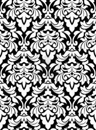 tumblr background black and white pattern. Tumblr Static Damask Seamless Pattern For Background Design In White Und Black Color To And