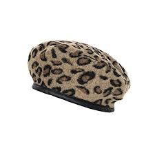 <b>Cokk</b> Leopard <b>Beret</b> Female <b>Autumn Winter</b> Hats for Women Vintage ...