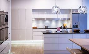white modern kitchen. Interior : Ultra Modern Scandinavian Kitchen Ideas With Wood Floor And White Laminated Cabinet Island Added E