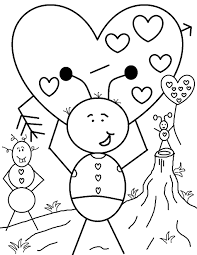 Small Picture Disney Valentines Day Coloring Pages For Kids Images Archives