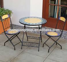 garden furniture mosaic table and chairmosaic bistro chair buy chairmetal chairs tablesmosaic tables mosaic bistro table c64