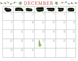 December Calendar Blank Print December Calendar Under Fontanacountryinn Com